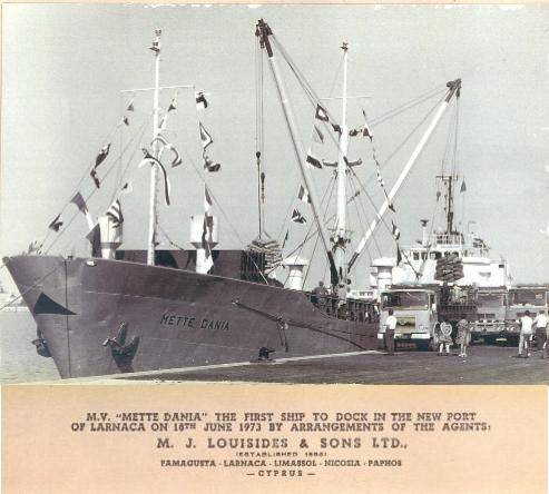 The 1st Vessel at Larnaca Port by M.J. Louizides & Sons